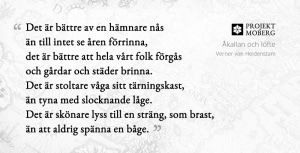 Åkallan och löfte, av Verner von Heidenstam