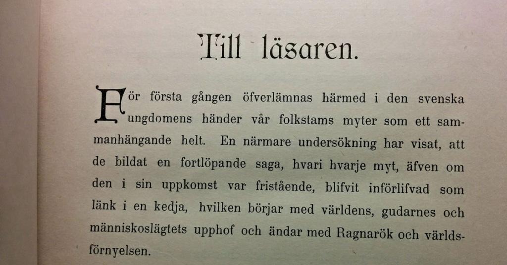 Fädernas gudasaga av Viktor Rydberg