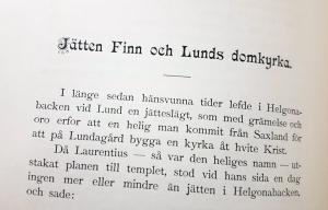 Jätten Finn och Lunds domkyrka