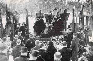 Alfred Kämpes begravning