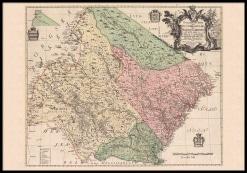 Landskapskarta över Jämtland, Ångermanland och Medelpad från 1771