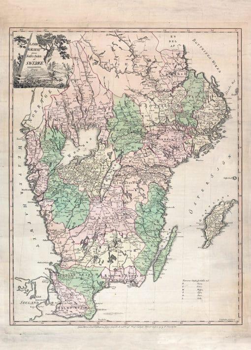 Karta Sveriges landsvägar