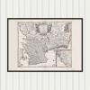 Karta över Skåne, Blekinge och Halland