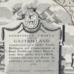 Gammal karta Gästrikland