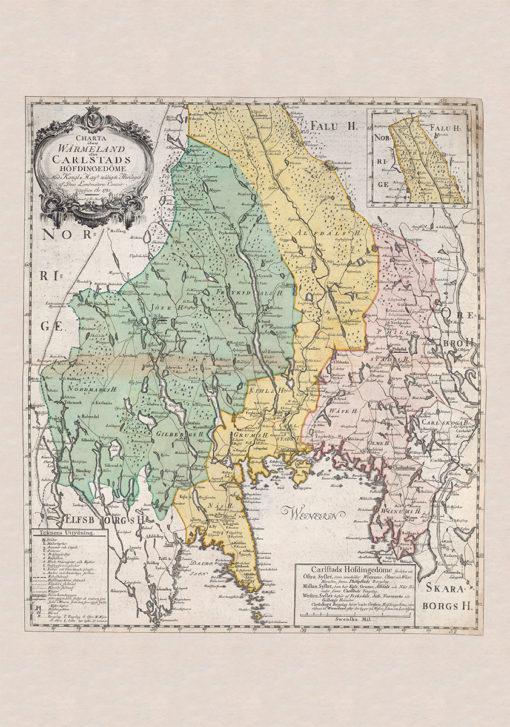 Karta Värmland