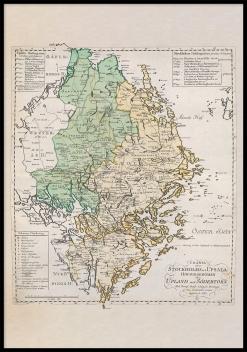 Historisk karta Uppland
