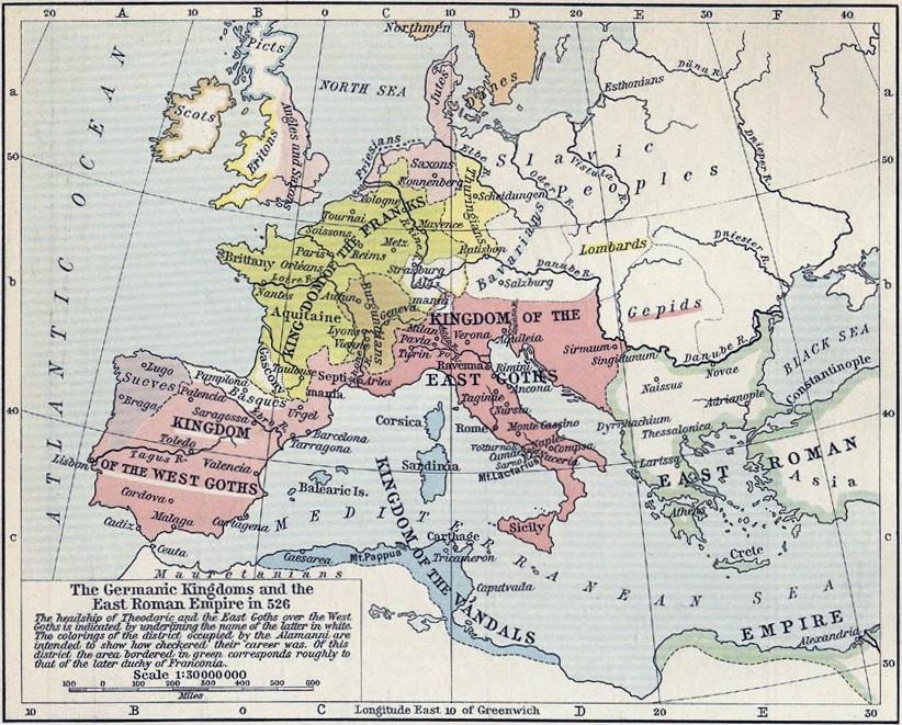 Germanska kungadömen år 526